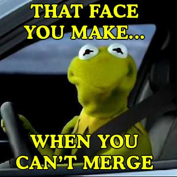 That face you wake… when you can't merge.