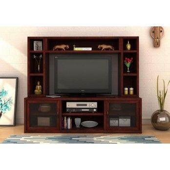Buy Estell #Tv #Unit With Shelves in Mahogany Finish online at Wooden Street. Here is the marvellous collection of #living #room #cabinets including wall shelf, home temple, bookshelf, shoe rack and more at Wooden Street. Visit : https://www.woodenstreet.com/living-cabinets in #Ludhiana #Mumbai #Nagpur #NaviMumbai #NewDelhi