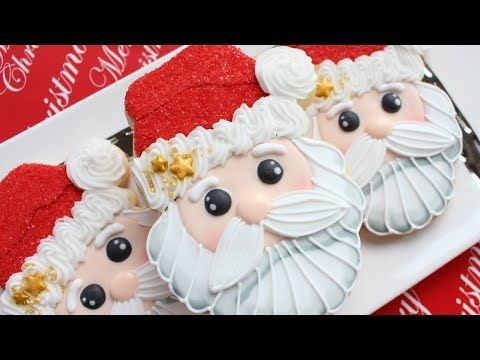 Adorable Santa Head Cookies - Detailed Instruction to make homemade Christmas gifts - YouTube