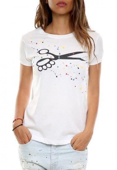 scissors paint white  #vagrancylifestyle #handmade #tshirt #woman