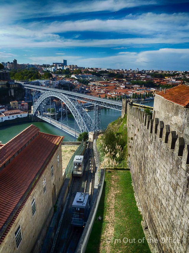 #Portugal - Walking in the Beautiful City of Oporto - Unesco World Heritage Site - via I'm Out of the Office 07.11.2014 | The amazing city of Porto, also known as Oporto in English, is located along the Douro river estuary in the North of Portugal and is the second-largest city of the country. | Photo: D. Luís Bridge view from Muralhas Fernandinas, Oporto