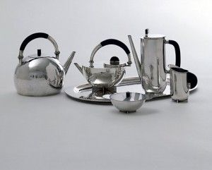 bauhaus design...1920-1930 Marianne Brandt, tea service, silver