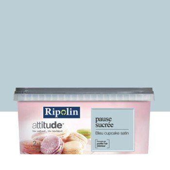 Peinture bleu cupcake RIPOLIN Attitude pause sucrée 2.5 l | Leroy Merlin