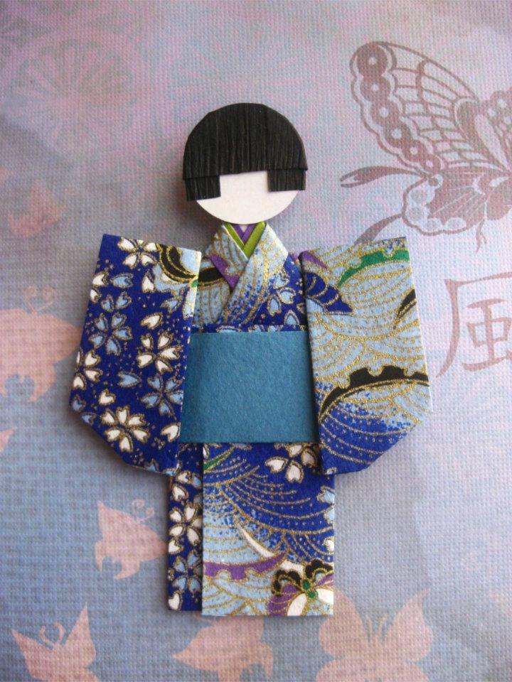 boy in coulourful kimono
