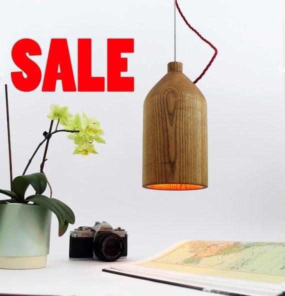 SALE Minimalist wooden ceiling light.Wooden by RoKDesignStudio