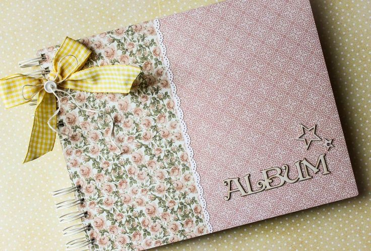 handmade baby girl photo album