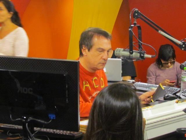 Músicos do Jota Quest participam do programa Pânico, na Jovem Pan FM