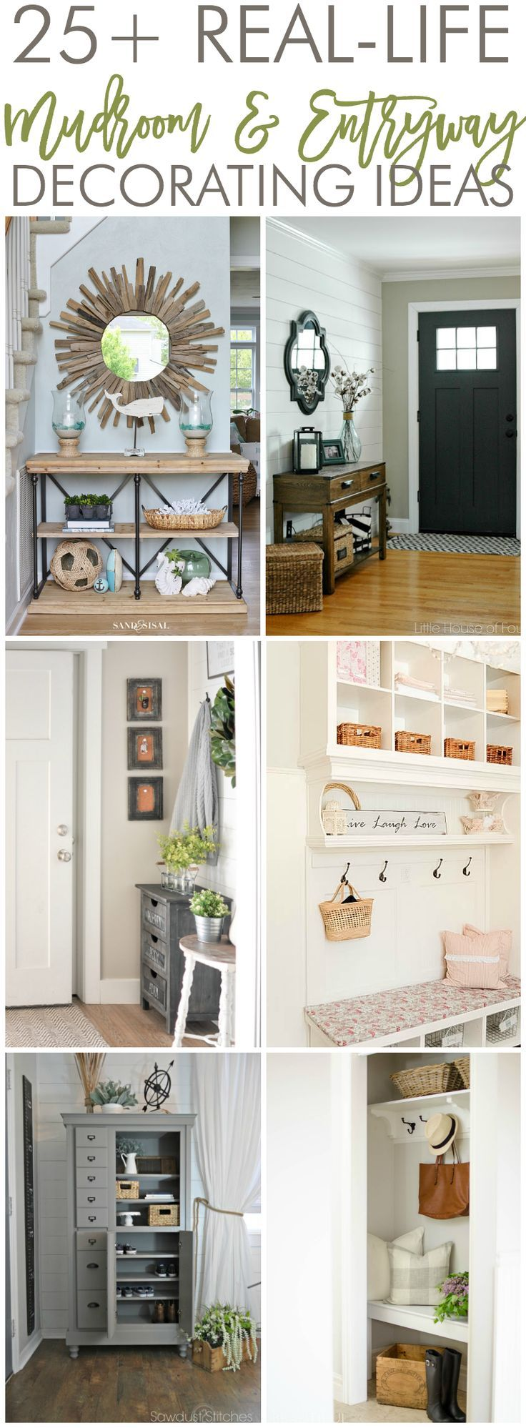 25 real life mudroom and entryway decorating ideas - Entryway Decor