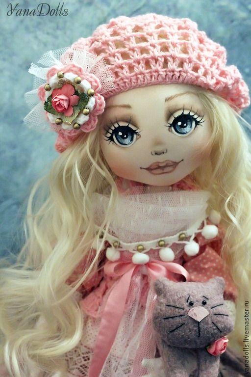Купить Лана - розовый, кукла ручной работы, кукла, кукла в подарок, кукла интерьерная