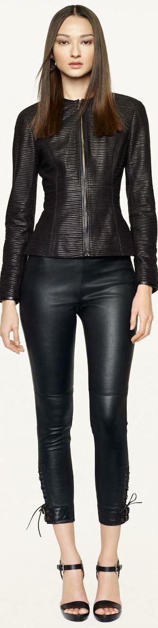 Ralph Lauren Pre-Spring 2014 Black Label Collection >> Leather Fianna Jacket