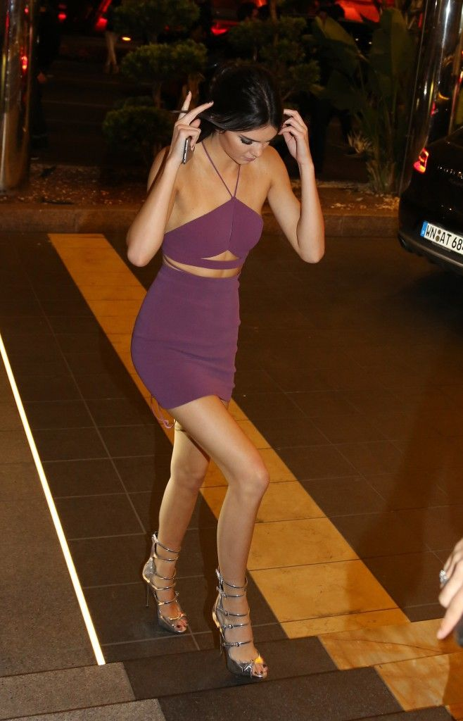 May 21, 2015: Kendall arriving at the J.W. Marriott in ...