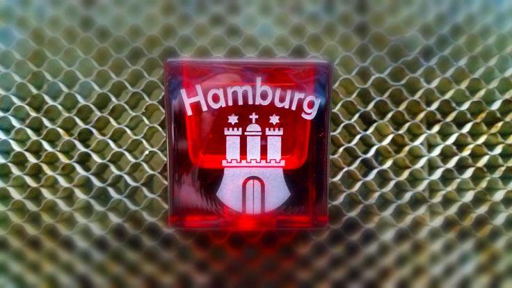 #Teelichthalter / #Kerzenständer mit Hamburg #Gravur   #tischlicht  #teelicht  #windlicht #kerzenständer  #lasergravur #Engraving  #laser