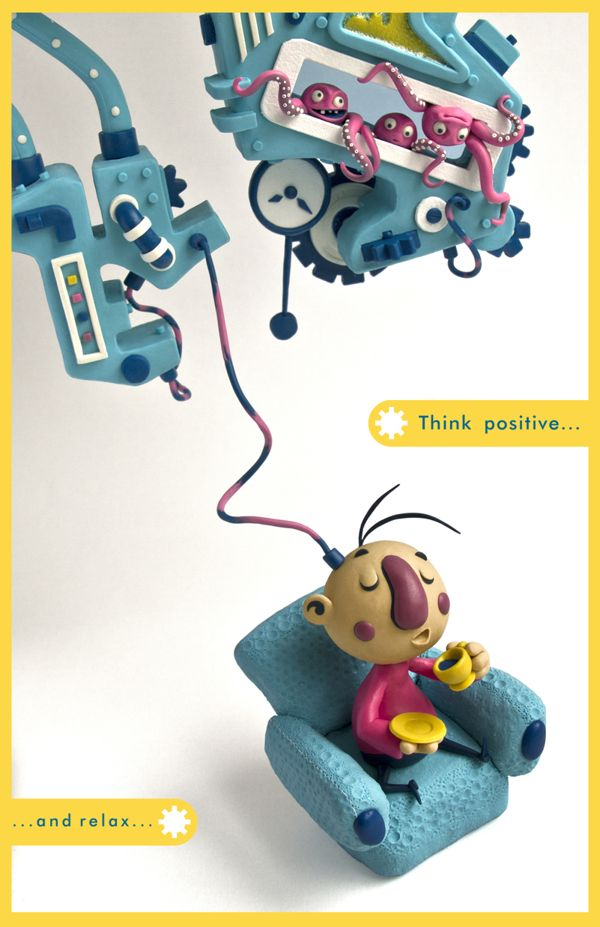 Think_positive by fernanda valverde, via Behance