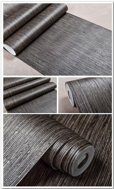 Metallic Vertical Faux Grasscloth Emboss Texture Wallpaper