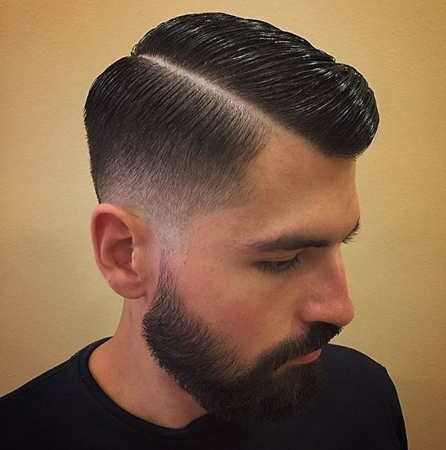 Slick, Shiny and clean. Haircut \u0026 style by @giuseppe.vitale