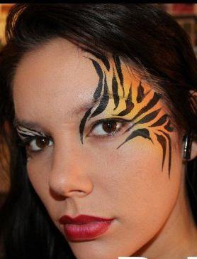 die besten 25 tiger schminken erwachsene ideen auf pinterest schmetterling schminken. Black Bedroom Furniture Sets. Home Design Ideas