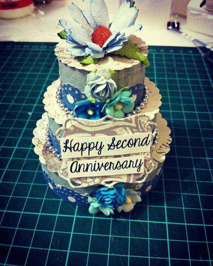 Anniversary cake (blue mix grey) 🌼🐚