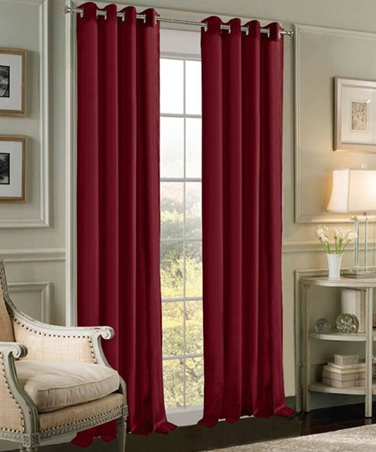 Wine Velvet Extra-Wide Curtain Panel - Set of Two