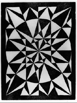 M.C. Escher · Flor de Pascua - Beautiful, 1921