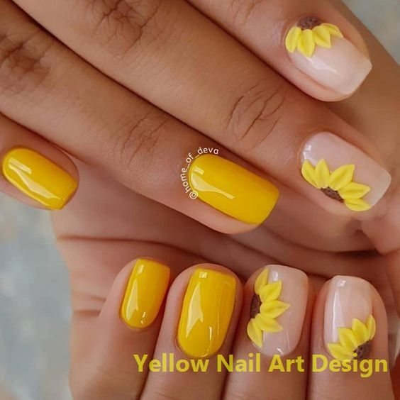 23 große gelbe Nail Art Designs 2019 1 #nails #nailarts