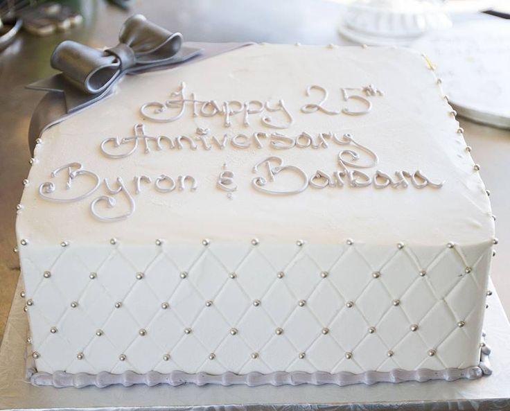 A Silver 25th Anniversary Cake Cake 003 Anniversary