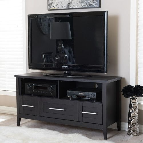 youu0027ll love your guests in style with this modern designed baxton studio espresso tv stand