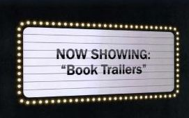 Display with QR codes to book trailers - professional and student created.