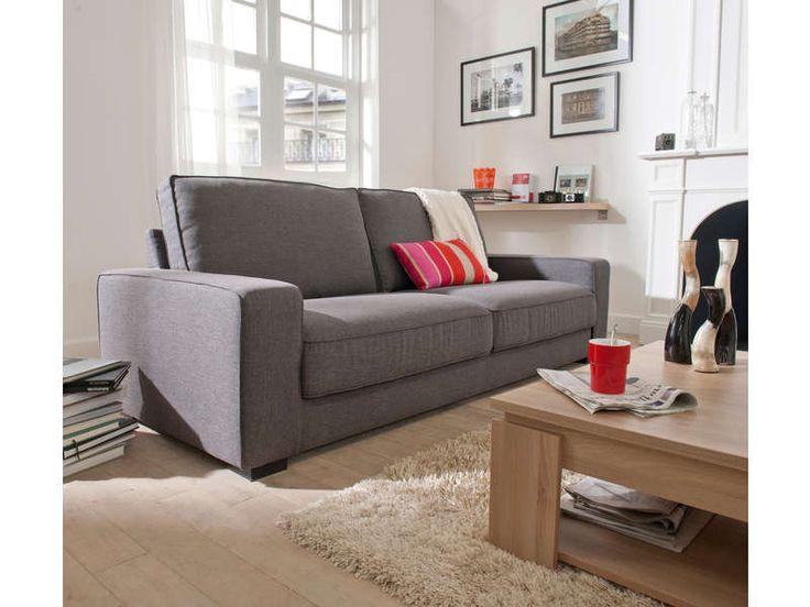 canap fixe places sutton coloris anthracite vente de canap droit conforama with canape. Black Bedroom Furniture Sets. Home Design Ideas