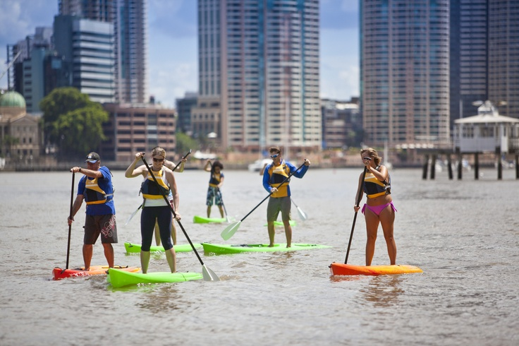 Can't decide if you want to go for a walk or a kayak? Why not do both and  enjoy some paddle boarding on the Brisbane River! #bneriver