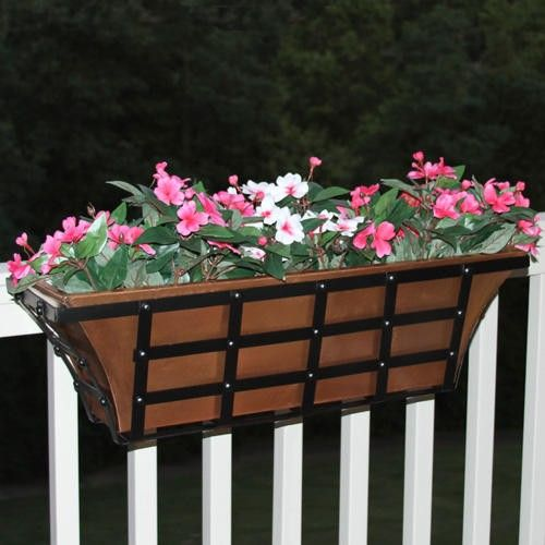 15 must see railing planters pins window planters for Tapered planter box plans