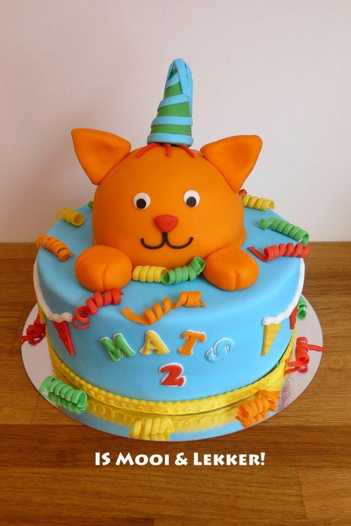 cake maken met figuur van dikkie dik op papier voor creche