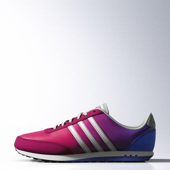 NEO Style Racer Shoes, Bold Pink / White / Blue, zoom