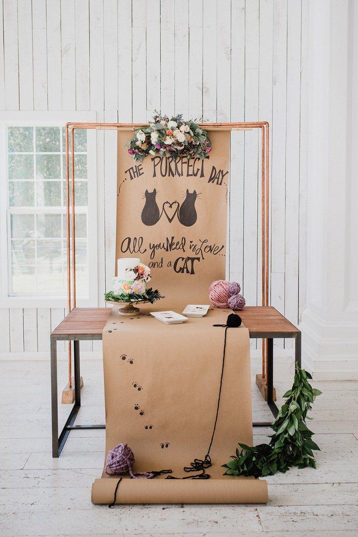 The Purrfect Day Super Cute Kitten Wedding Inspiration Boho Wedding Blog Wedding Pets Cat Wedding Theme Cat Wedding