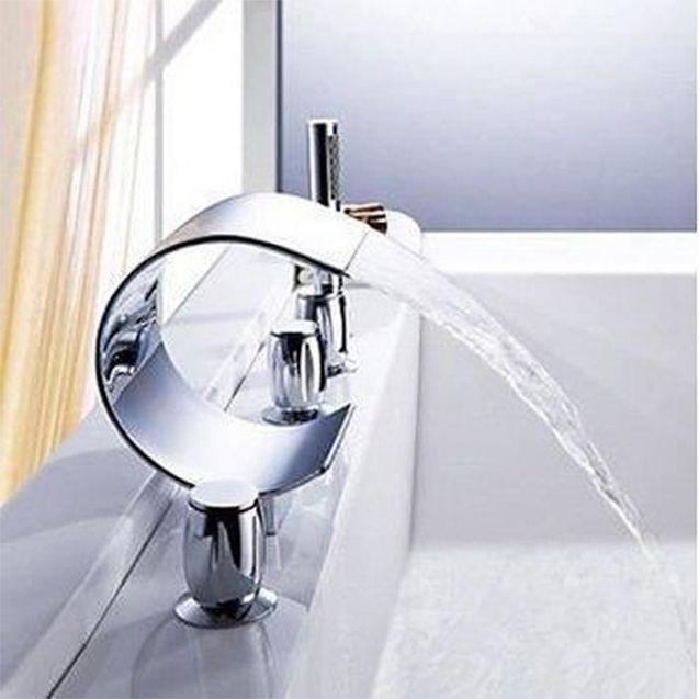 mitigeur robinet luxe cascade baignoire
