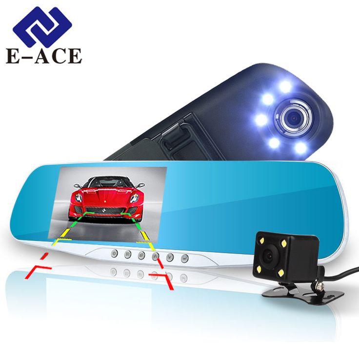 buy e ace automotive car camera dvr night vision 5 led lights dash cam rear view mirror dvr two #led #automotive #lights