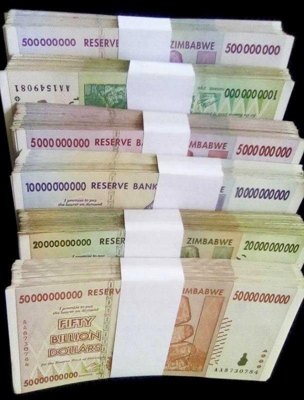 Zimbabwe 500 Million 1 5 10 20