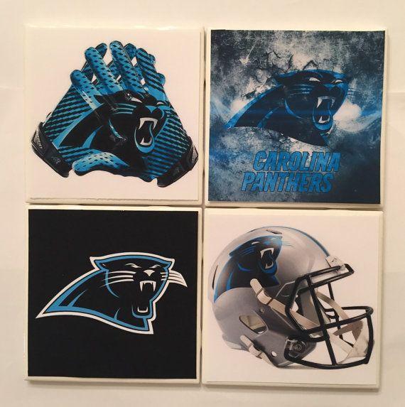 Coasters Handmade South Carolina Panther's by HashtagCoasters