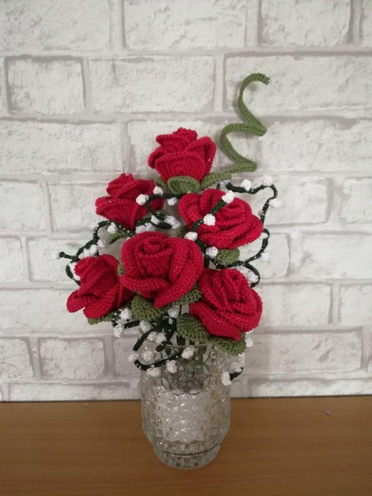 Crochet roses to my mom