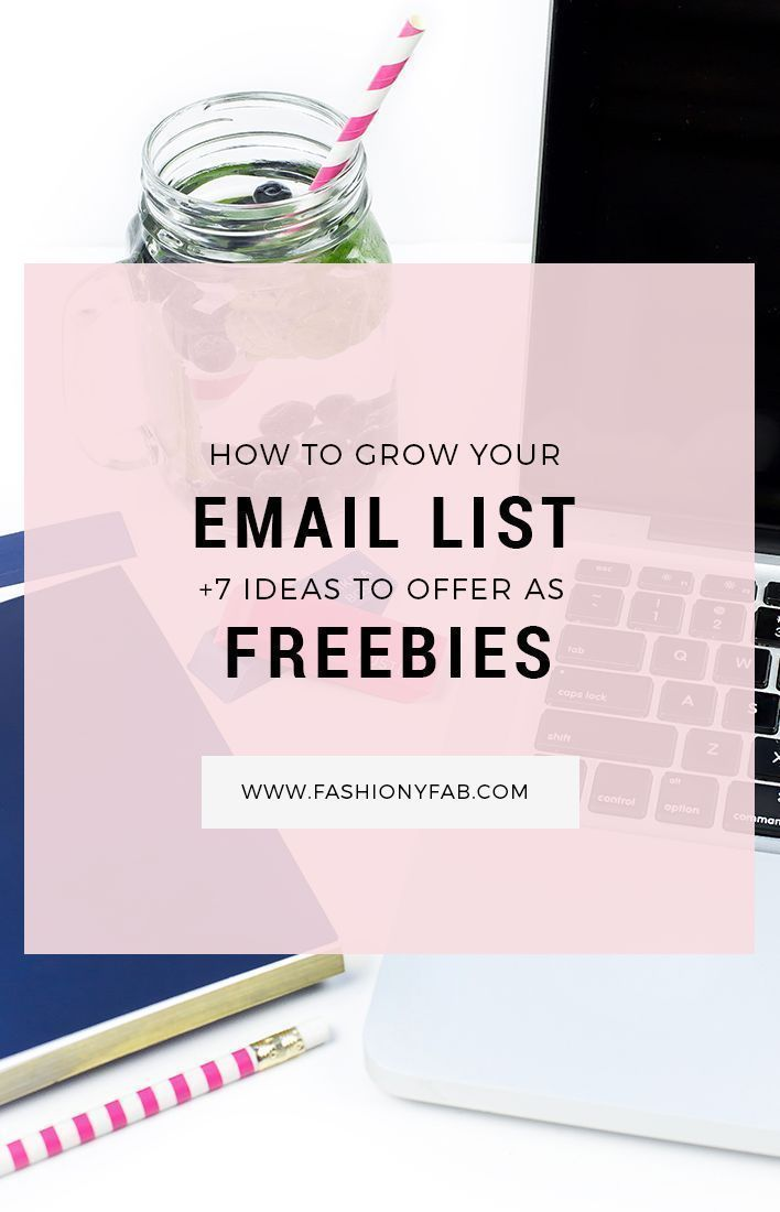 Need help with you newsletter subscription? Here's how to grow your email list and 7 ideas to offer as freebies for your subscribers.