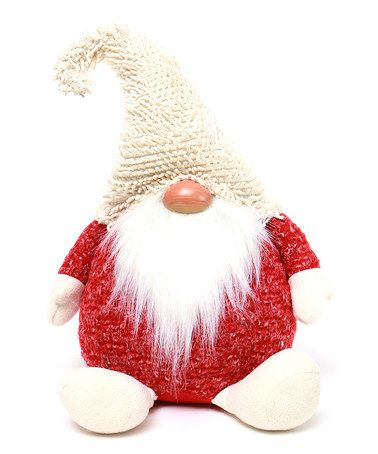 Loving this Red & Cream Sitting Gnome Décor on #zulily! #zulilyfinds