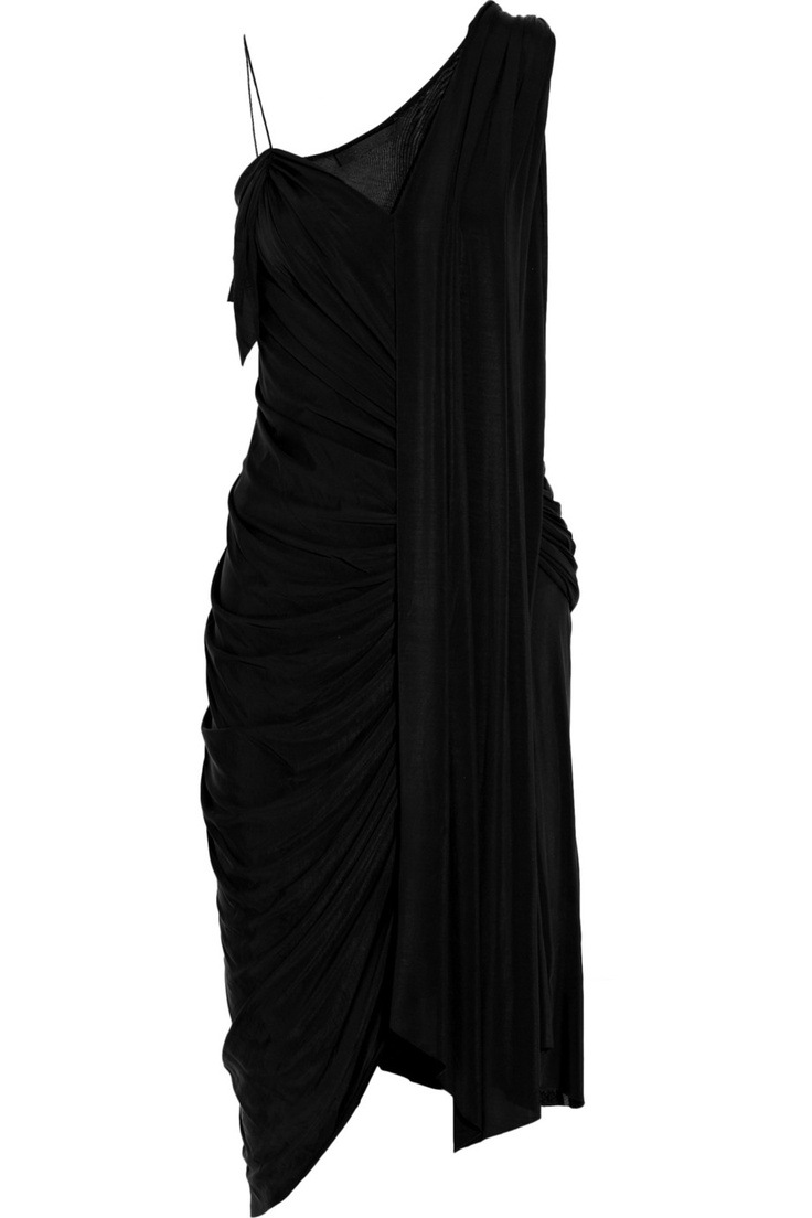 Alexander Wang Asymmetric Draped Crepe-Jersey Dress: perfect for a dinner party
