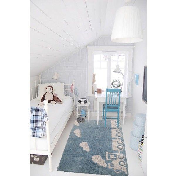 """Ara Textil koberec """"Vlak"""", světle modrý, 120 x 160 cm"""