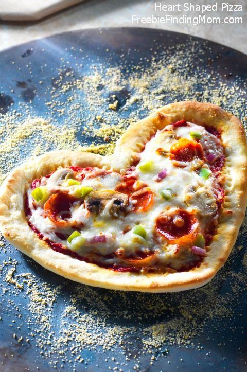 Heart Shaped Pizza: Valentine's Day Dinner Idea