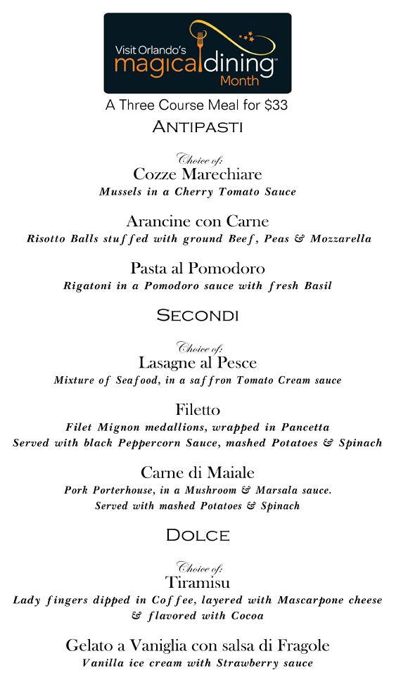 191 best Visit Orlandou0027s Magical Dining Month images on Pinterest - dinner menu