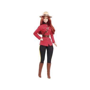 Barbie doll canada. Maak je Dolls of the World collectie compleet met Barbie pop Canada. Deze Canadese Barbie-pop draagt een outfit die is gebaseerd op het uniform van de Canadese Mounties met een bruine leerachtige riem, sjerp, hoed en hoge laarzen #speelgoed #toys