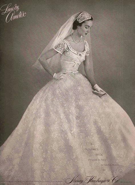 1954 Bridalwear advertisement.