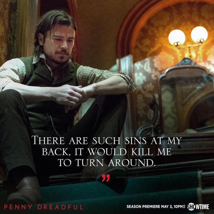"""""""He's dealing with something that is weighing on him every day."""" -Josh Hartnett on Ethan in #PennyDreadful season 2"""