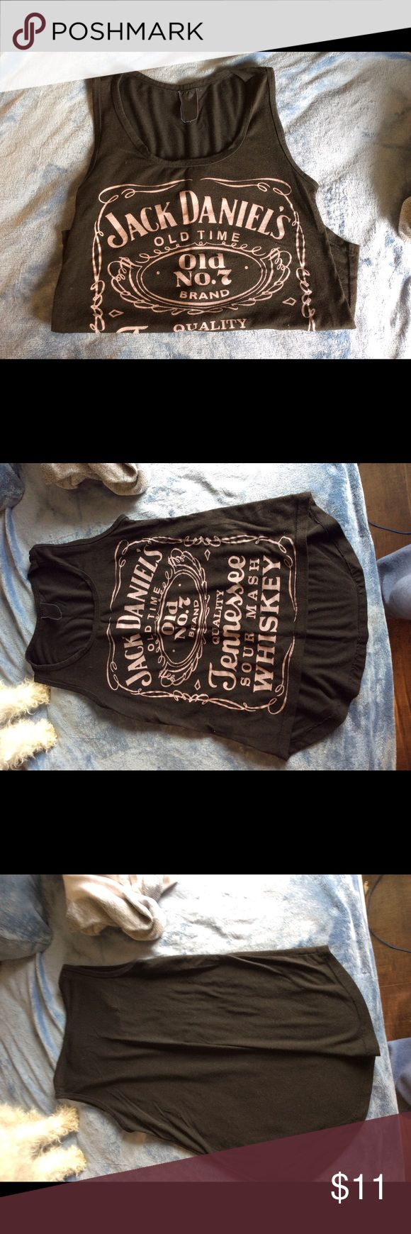 Jack Daniels Tank Super cute Jack Daniels tank top. Size is faded but I know it is a M Tops Tank Tops