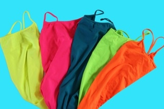 Neon-bright colors are cropping up everywhere.  This pic inspired our neon looks.