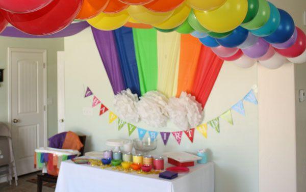 Детский День рождения дома: украшение комнаты